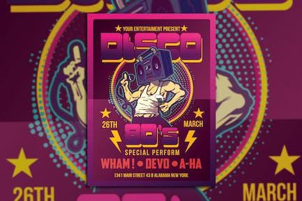 Disco 80's Party Flyer