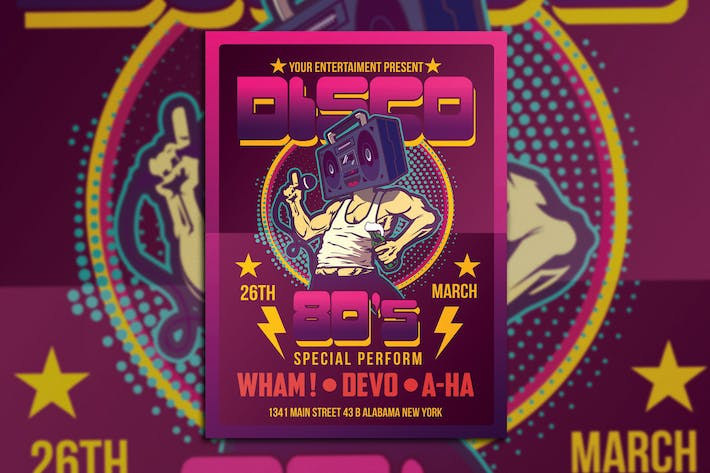 Thumbnail for Disco 80's Party Flyer