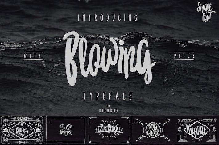 Thumbnail for Blowing Typeface