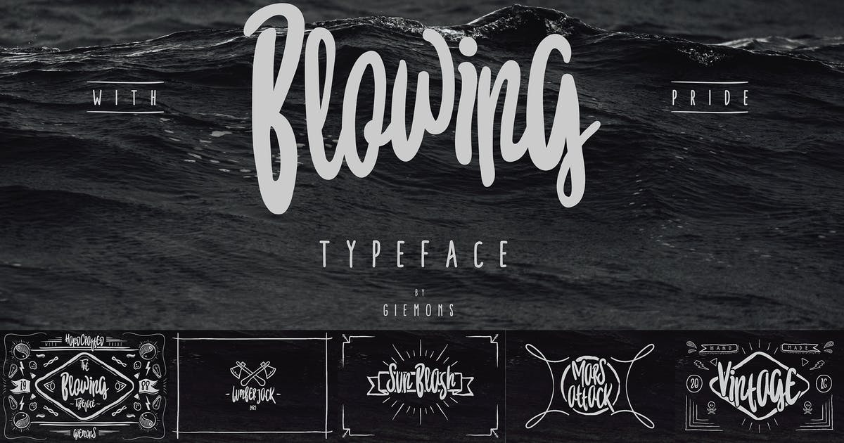 Download Blowing Typeface by giemons
