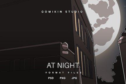 Nachts Illustration