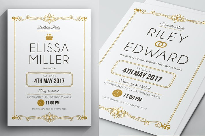 Thumbnail for Simple Elegant Invitation