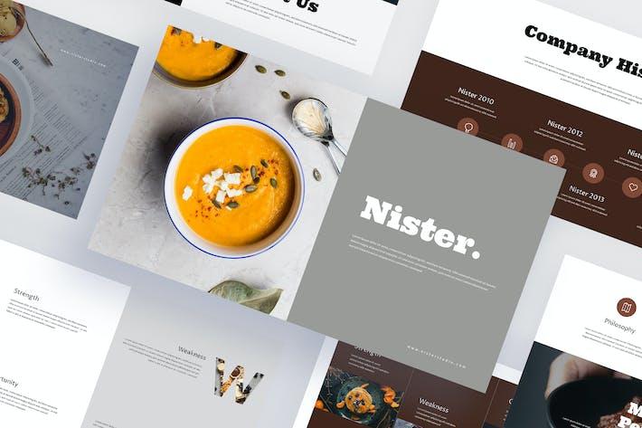Thumbnail for Nister - Еда Google слайды Шаблон
