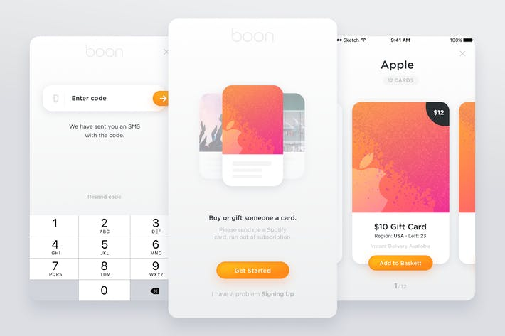 Thumbnail for Boon - Gift Card Mobile App Kit