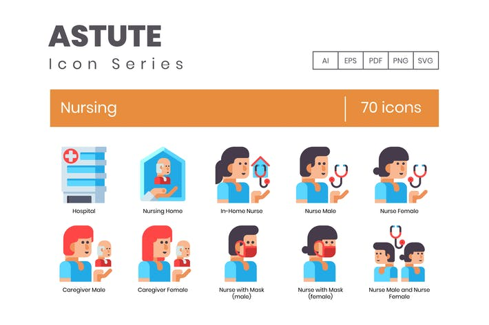 Thumbnail for 70 Nursing Flat Icons