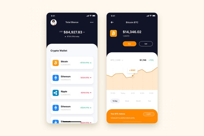 Thumbnail for Crypto Wallet App UI Kit Template