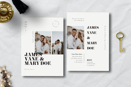 Simple Wedding Invitation 04