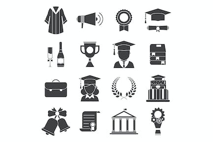 Graduation Day Certification Ceremony Icons