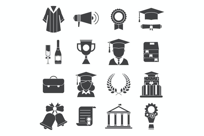 Thumbnail for Graduation Day Certification Ceremony Icons