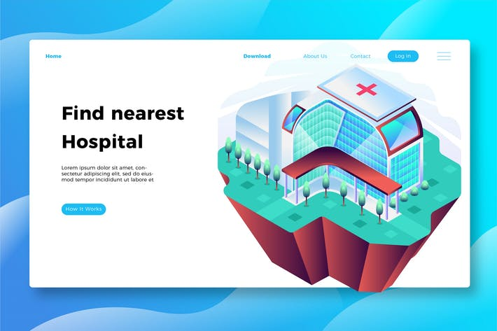 Thumbnail for Hospital - Banner & Landing Page