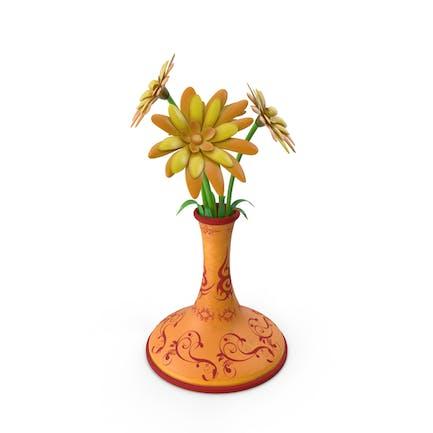 Blumentopf aus Kunststoff