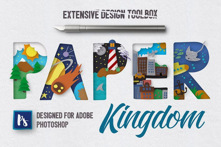 Thumbnail for Paper Kingdom For Photoshop