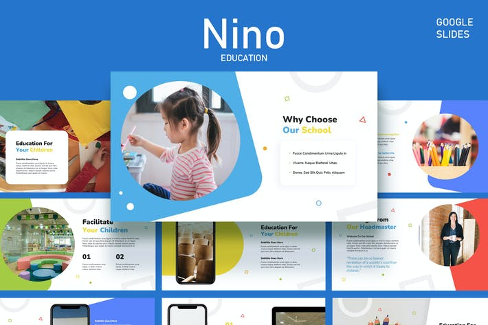 Nino - Kids Education and Course Google Slides