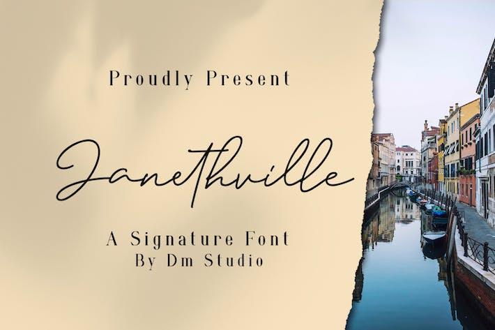 Thumbnail for Janethville - Signature Font