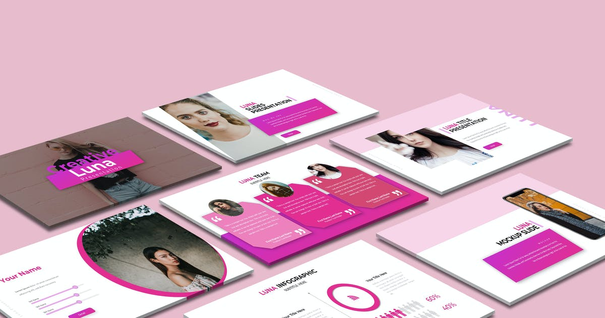 Download Luna Powerpoint Template by aqrstudio
