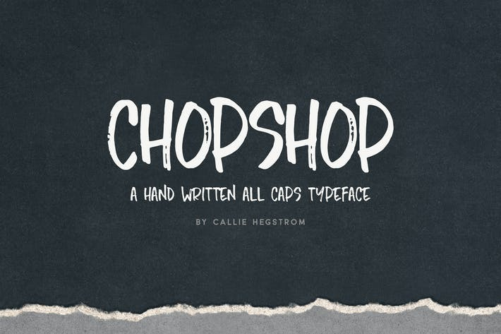 Thumbnail for Chopshop Typeface