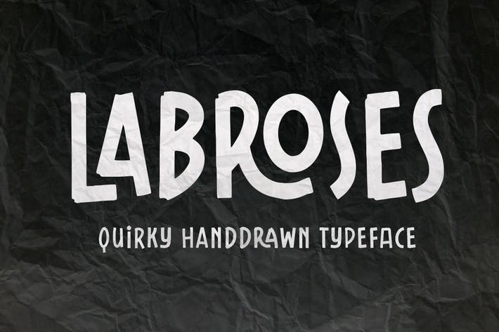 Thumbnail for Labroses Handdrawn Typeface