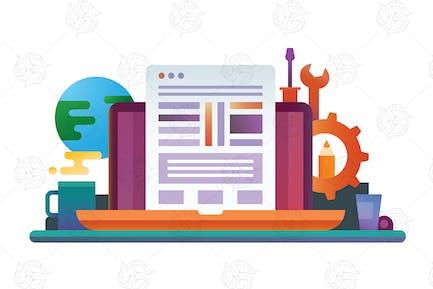 Programming - Flat Design Illustration
