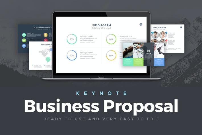 business proposal keynote template by slideempire on envato elements