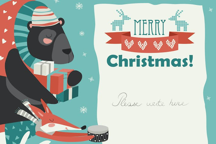 Cover Image For Cute animals giving presents