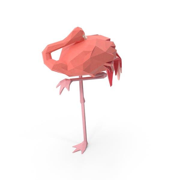 Low Poly Flamingo