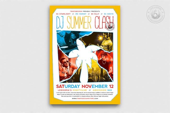 Thumbnail for DJ Summer Clash Flyer Template