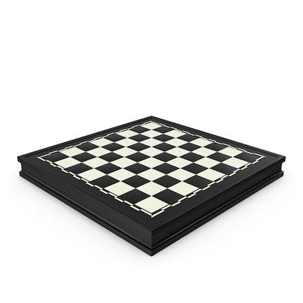 Tablero de ajedrez negro