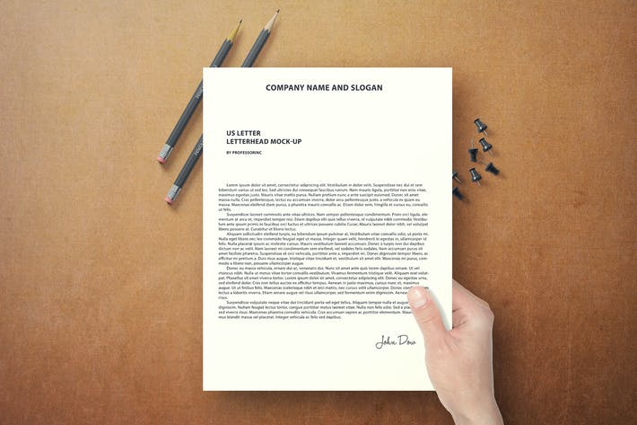 Thumbnail for US Letter Letterhead Mock-Up