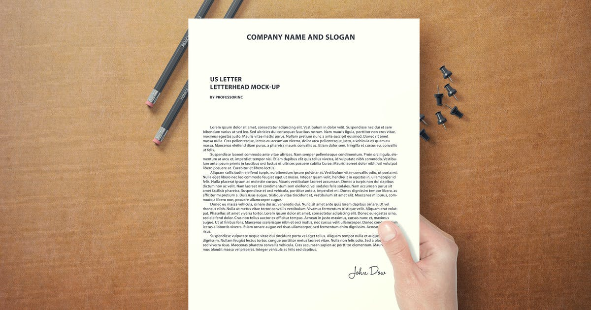 Download US Letter Letterhead Mock-Up by professorinc