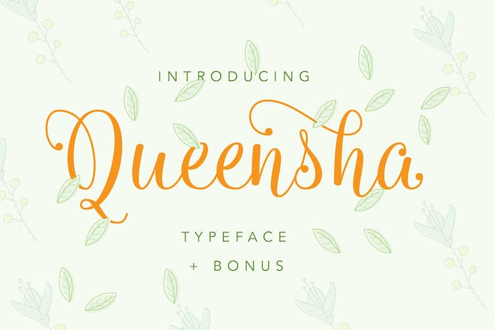 Thumbnail for Queensha Typeface
