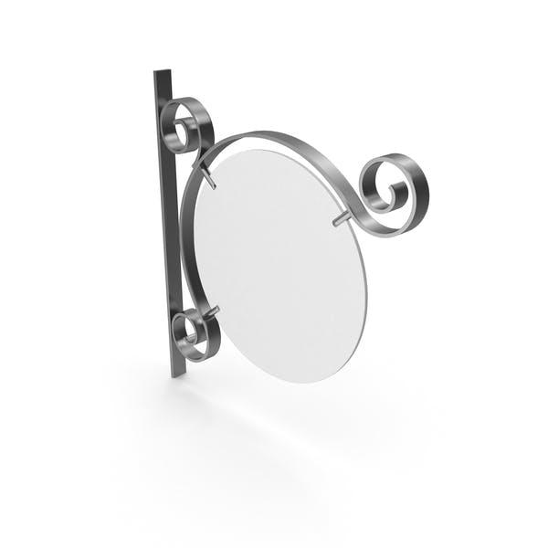 Серебряная металлическая вывеска