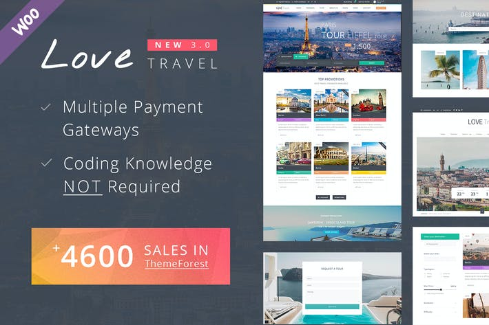 Thumbnail for Travel WordPress Theme