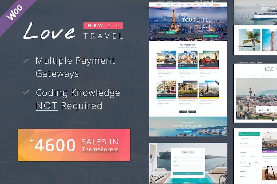 Viajes WordPress Tema