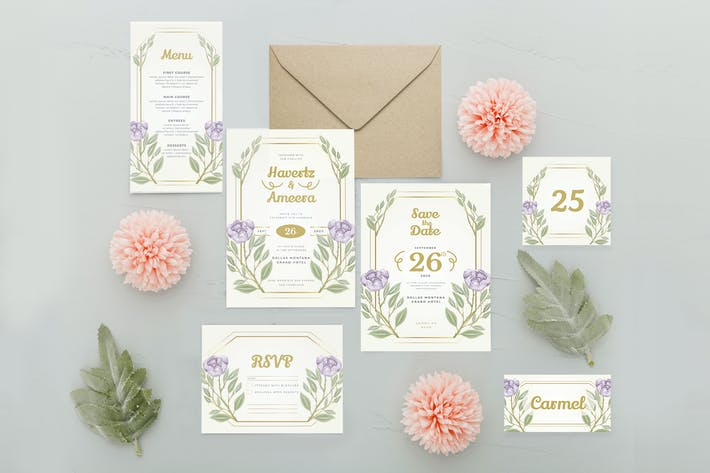 Thumbnail for Violet Rose - Wedding Invitation