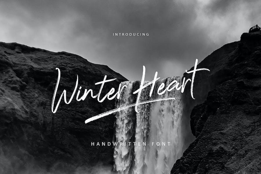 Winter Heart Brush
