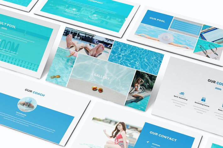 Thumbnail for Swimming Powerpoint Presentation Template