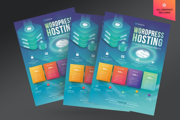 Thumbnail for Wordpress Hosting Flyer