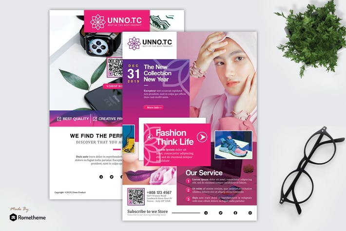 Thumbnail for Unno - Product Promotion and Sale Flyer HR