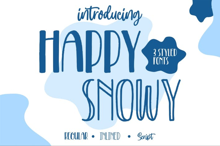 Thumbnail for Happy Snowy | Font Trio
