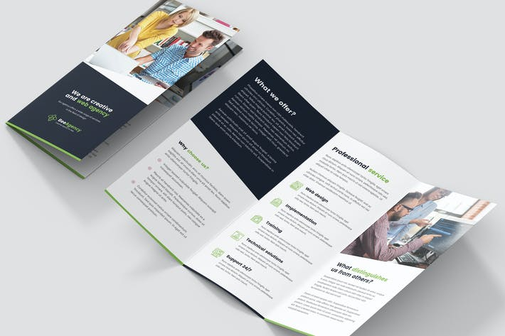 Thumbnail for Brochure – Web Agency Tri-Fold