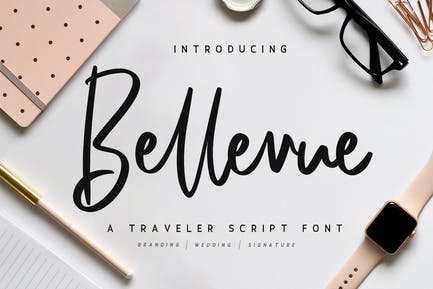 Bellevue // Une police de script voyageur
