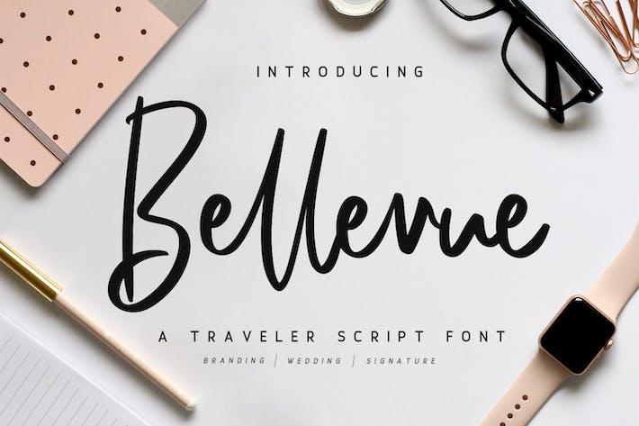 Thumbnail for Bellevue // A Traveler Script Font