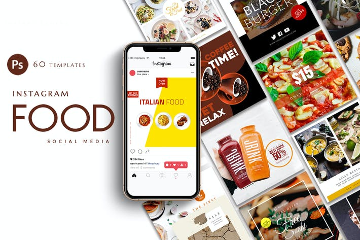 Thumbnail for Instagram Food Banner Templates
