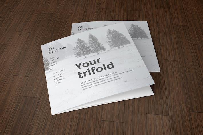 Square Simple Minimal Trifold