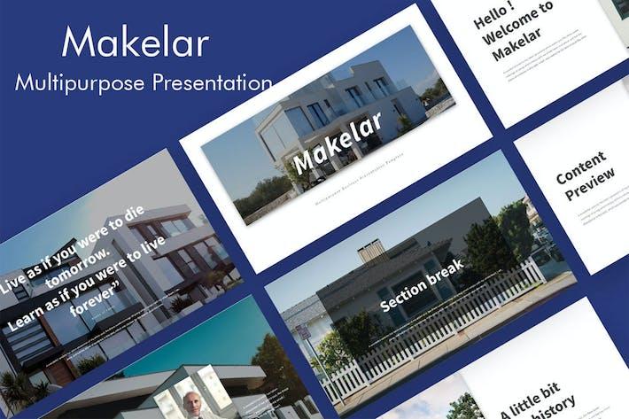 Thumbnail for Makelar - Недвижимость Презентация слайдов Google