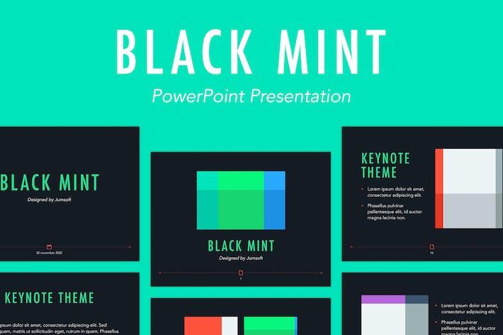 Black Mint Powerpoint Template By Jumsoft On Envato Elements