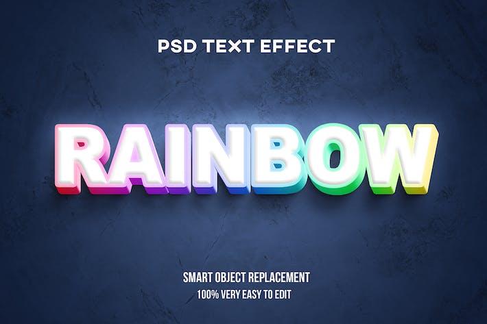 Rainbow gradient text effect