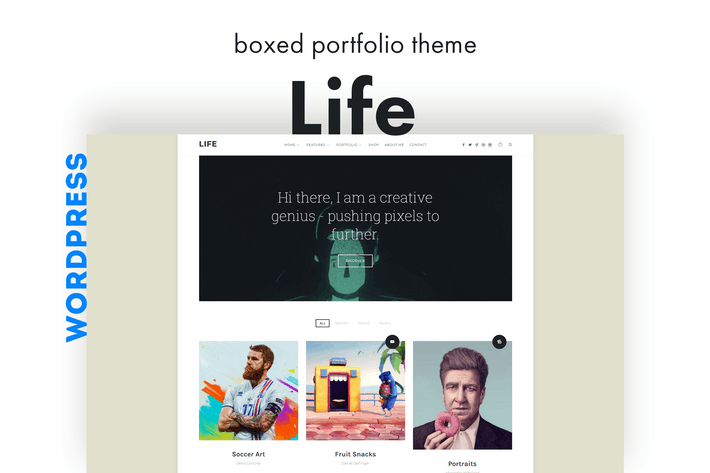 Thumbnail for Life - Boxed Portfolio WordPress Theme