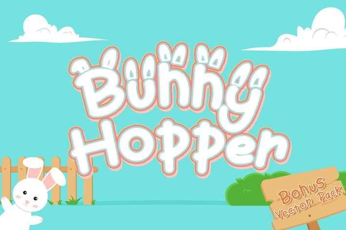 Thumbnail for Bunny Hopper - Playful Font