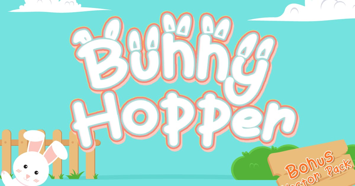 Download Bunny Hopper - Playful Font by Attype-Studio
